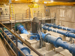 Inline Hydropower Turbine for Las Vegas Water Supply